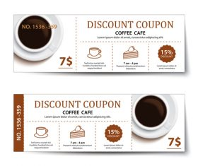 Coffee cake discount coupon vector 01