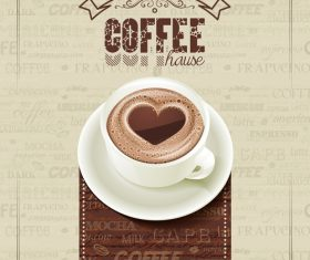 Coffee house poster vintage vector