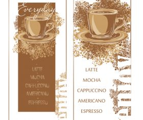Coffee menu banners vector template