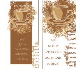 Coffee menu banners vector template