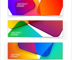 Colored glass with banners template vector