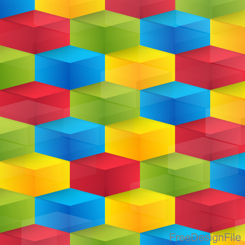 Colorful 3D shape abstract background 02