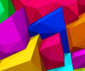 Colorful 3d tris group vector background 01