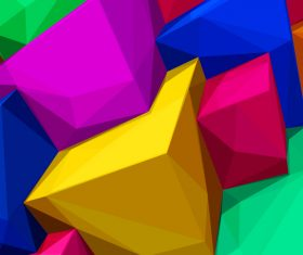 Colorful 3d tris group vector background 02