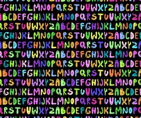 Colorful alphabet seamless pattern vector 01