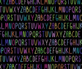 Colorful alphabet seamless pattern vector 02