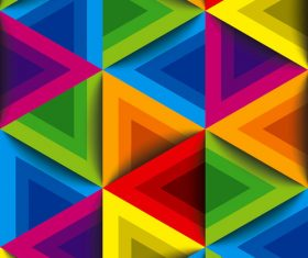Colorful triangle group vector background