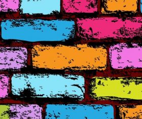 Colorful wall grunge background vector