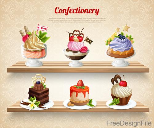 Confectionery design vector