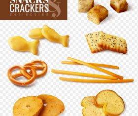 Crackers snacks creative design vector