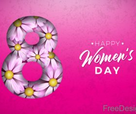Creative 8 march womens day festival design vector 02