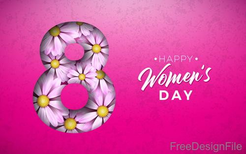 Creative 8 march womens day festival design vector 02