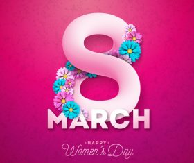 Creative 8 march womens day festival design vector 03