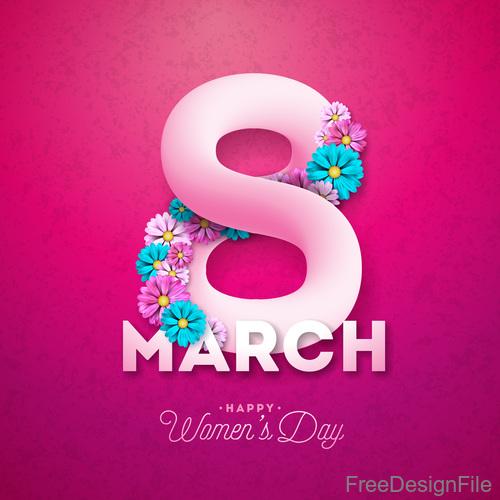 Creative 8 march womens day festival design vector 03