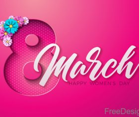 Creative 8 march womens day festival design vector 04