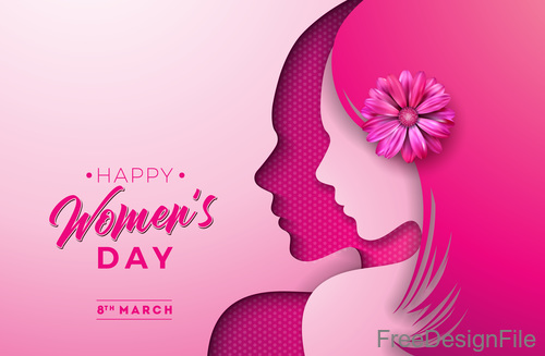 Creative 8 march womens day festival design vector 05