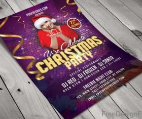 Creative Christmas Night Party Flyer PSD Template