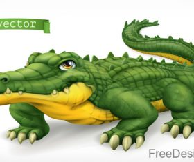 Crocodile funny cartoon vector