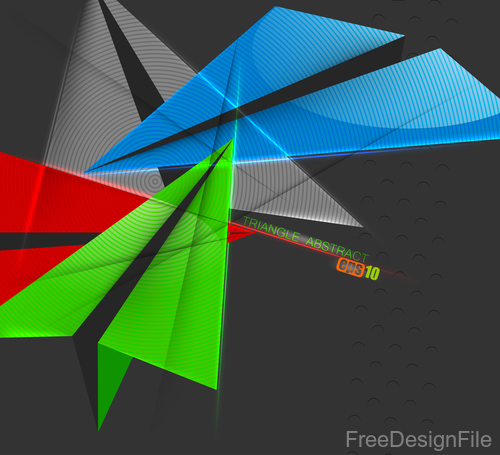Curve colors shape with black background vector 03