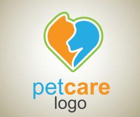 Cute Pet Care Logo design vector 01