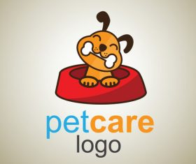 Cute Pet Care Logo design vector 02