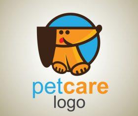 Cute Pet Care Logo design vector 03