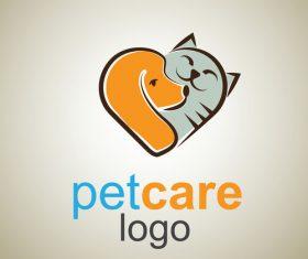 Cute Pet Care Logo design vector 04