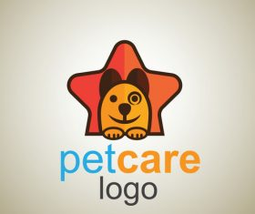 Cute Pet Care Logo design vector 05