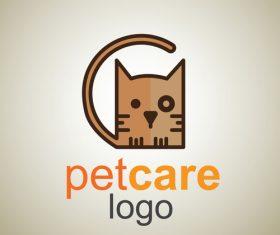 Cute Pet Care Logo design vector 07