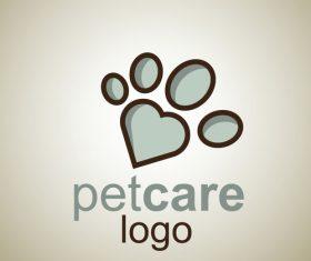 Cute Pet Care Logo design vector 08