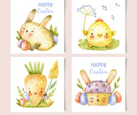 Cute easter card hand drawn vector