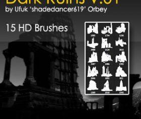 Dark Ruins HD Photoshop Brushes