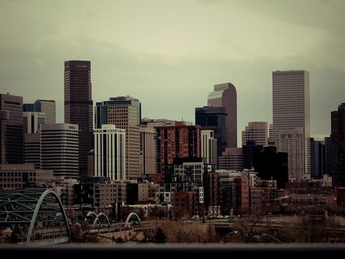 Denver Cityscape of the United States Stock Photo 02