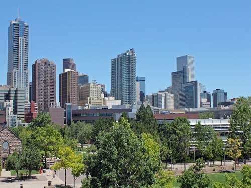 Denver Cityscape of the United States Stock Photo 05