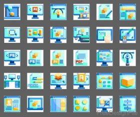 Design element flat icons