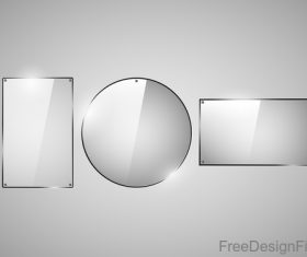 Different glass plates design vector 01
