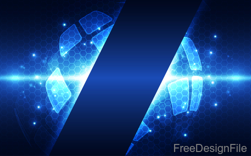 Earth with electric technology background vector 01