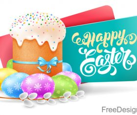 Easter banners with easter egg vector