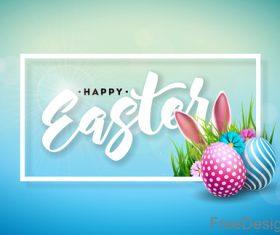Easter blurs background design vector