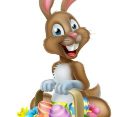 Easter bunny funny illustration vector 01