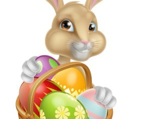 Easter bunny funny illustration vector 04