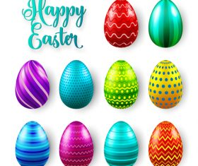 Easter egg colorful vector material 01