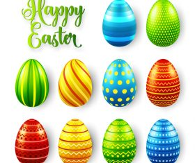 Easter egg colorful vector material 02