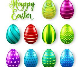 Easter egg colorful vector material 03