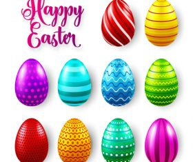 Easter egg colorful vector material 04