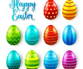 Easter egg colorful vector material 05