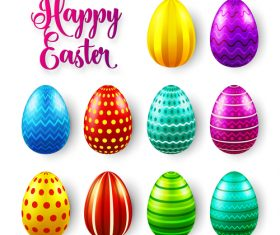 Easter egg colorful vector material 06