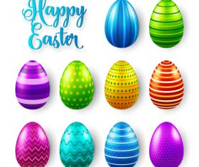 Easter egg colorful vector material 07