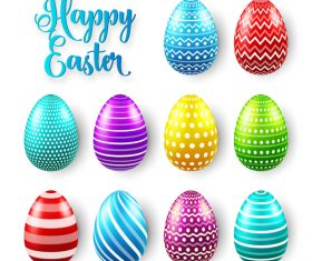 Easter egg colorful vector material 08