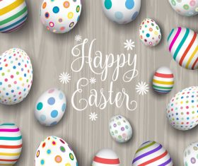 Easter egg with easter wood background vector